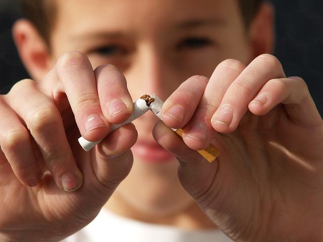 dejar de fumar -cigarrillo roto