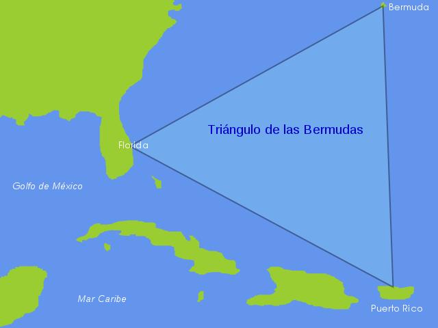 triángulo de las bermudas-mapa